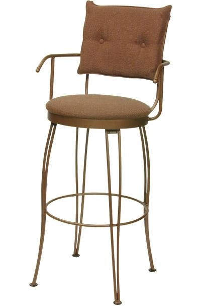 Transitional Bar Stools Bill II Bar Stool by Trica at Dinette Depot