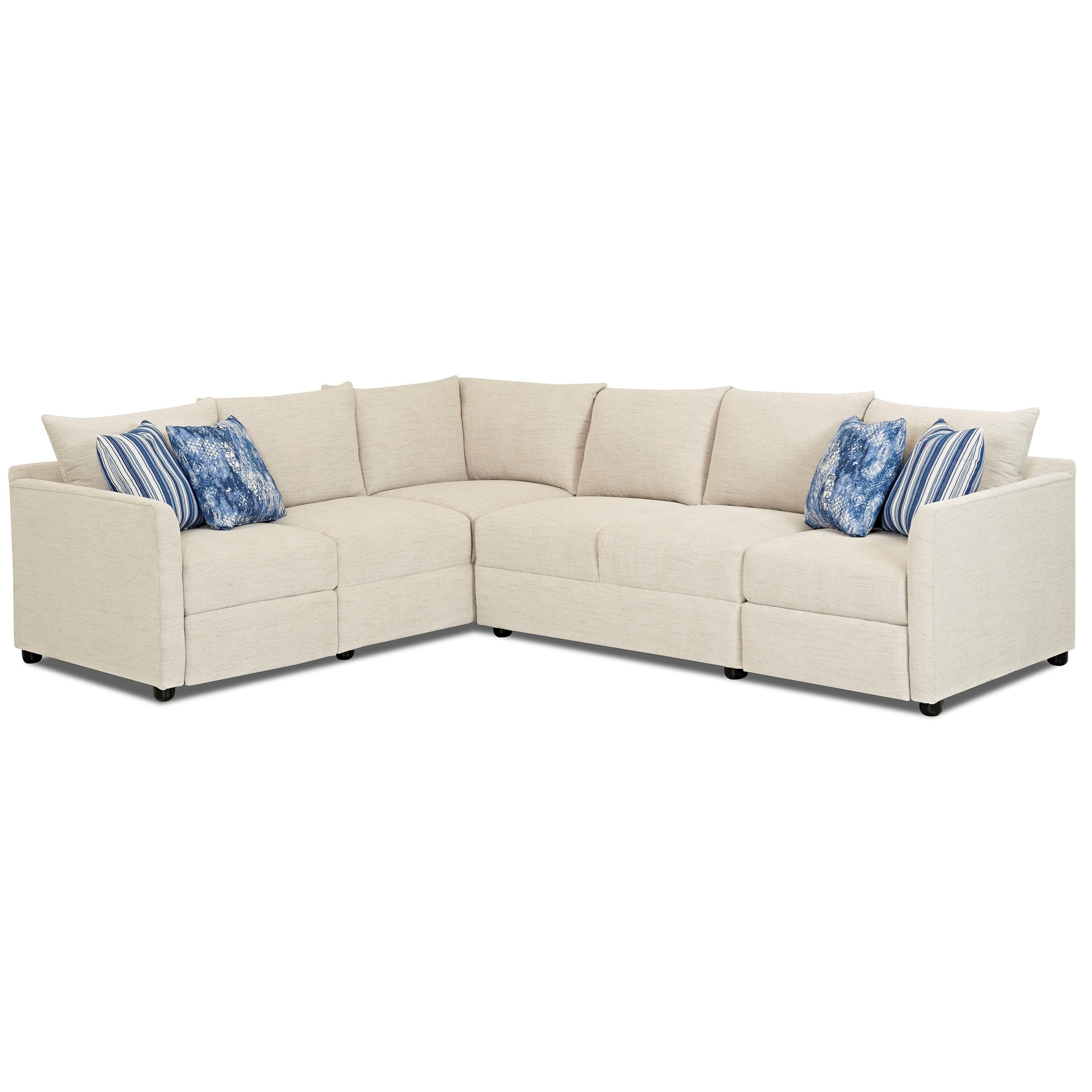 Atlanta 2 Pc Power Hybrid Reclining Sectional Sofa by Klaussner at Lapeer Furniture & Mattress Center