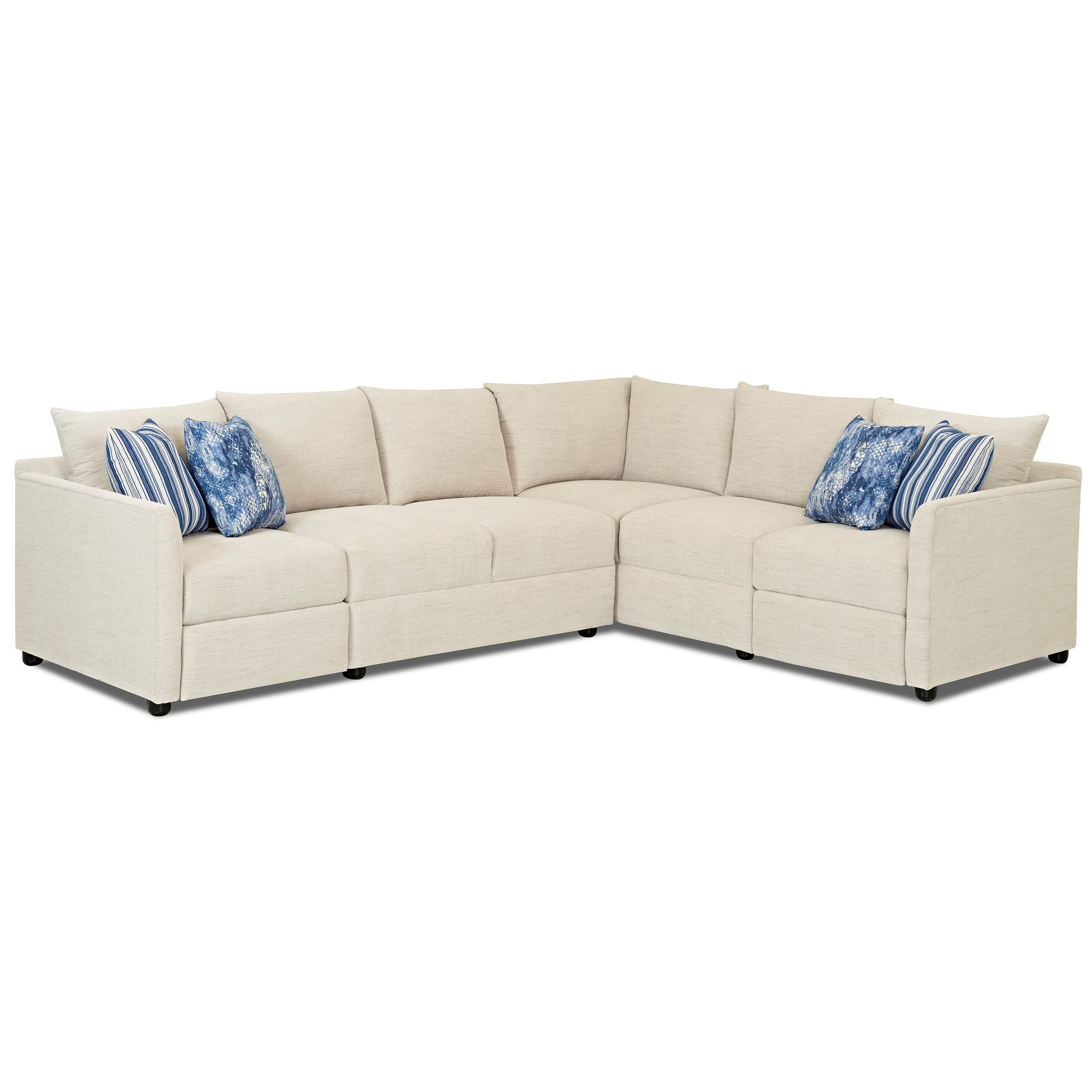 Atlanta 2 Pc Power Hybrid Reclining Sectional Sofa by Klaussner at Northeast Factory Direct
