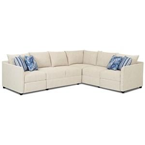 2 Pc Power Hybrid Reclining Sectional Sofa