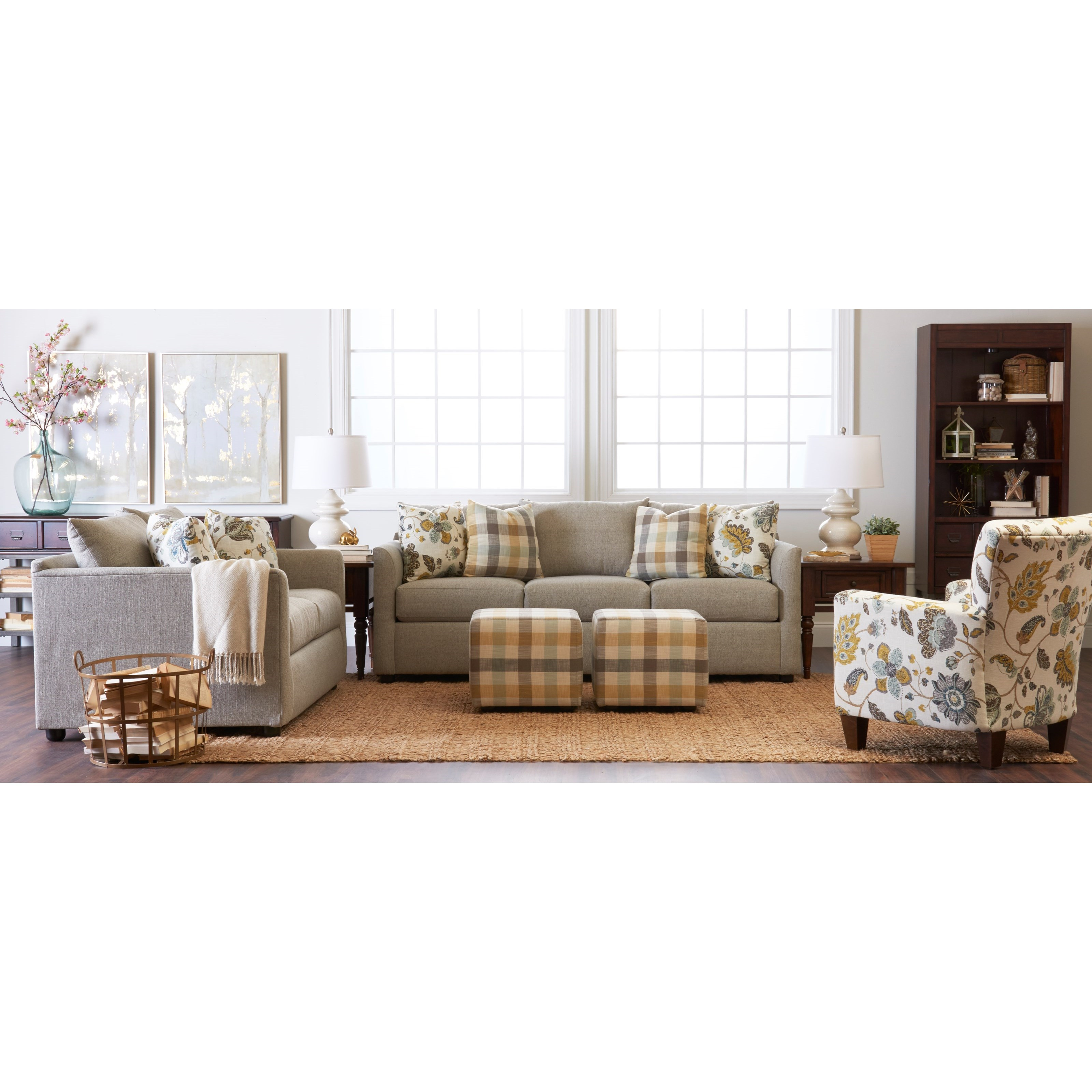 Atlanta Stationary Living Room Group by Klaussner at Northeast Factory Direct
