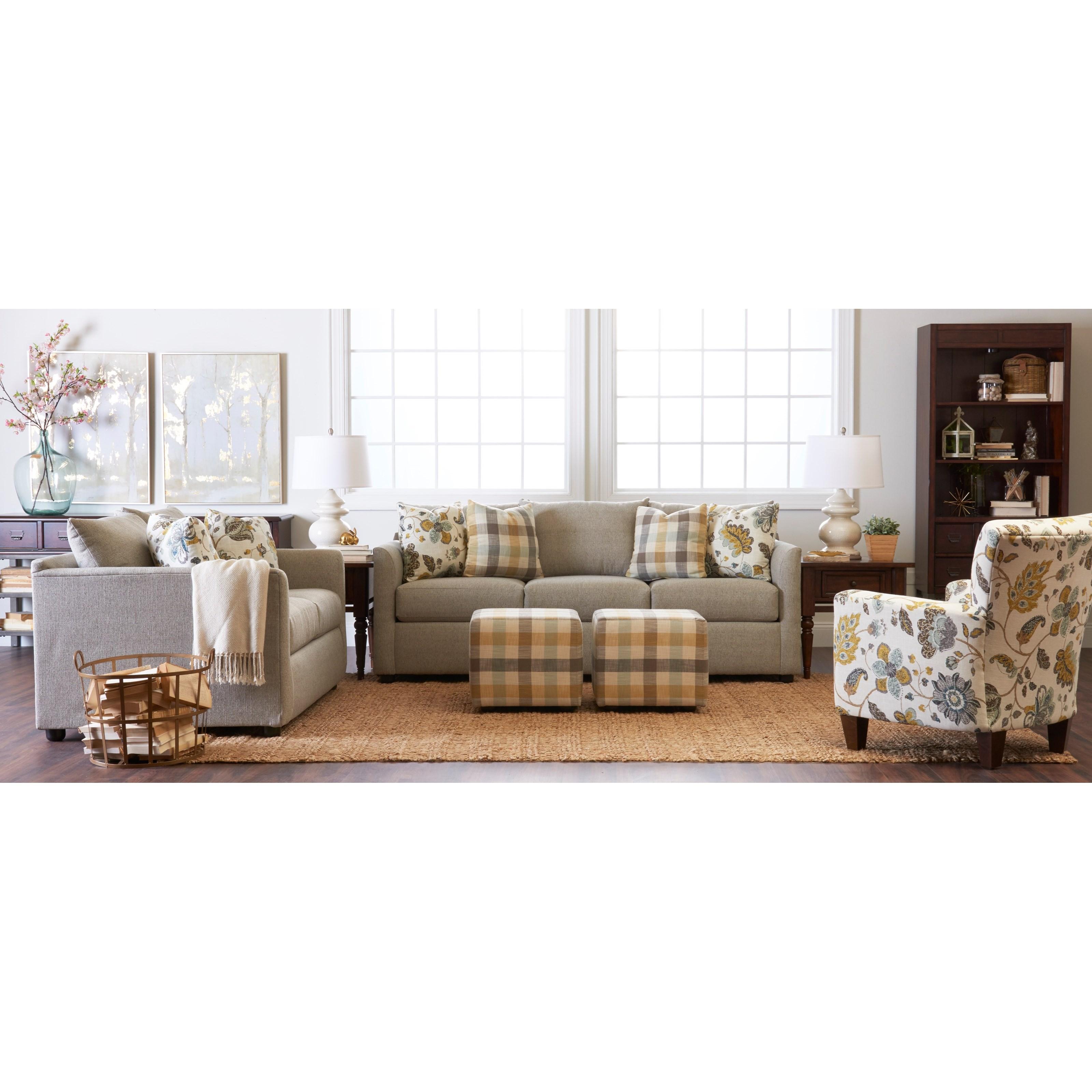 Atlanta Stationary Living Room Group by Klaussner at Johnny Janosik