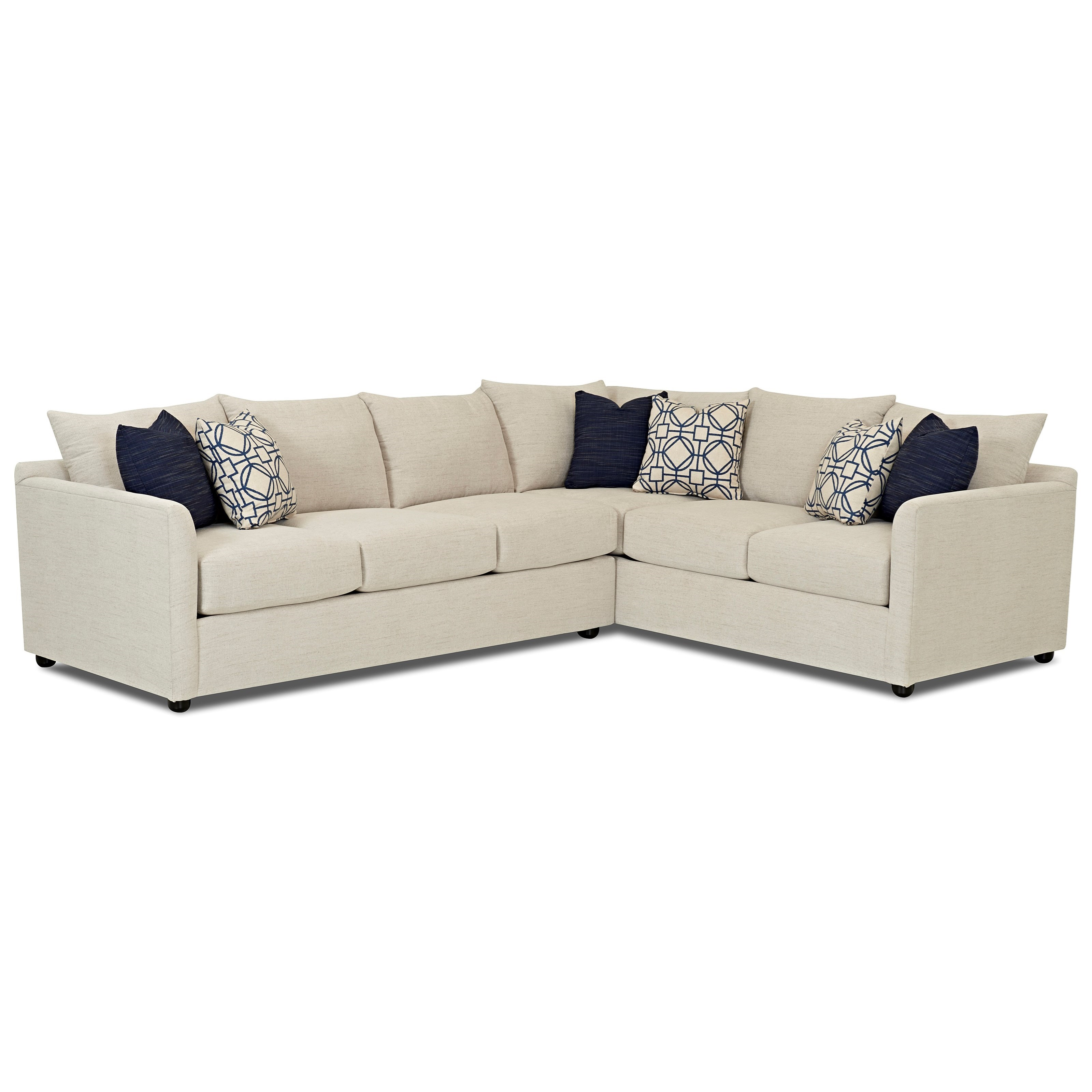 Atlanta Sectional Sofa by Klaussner at Northeast Factory Direct