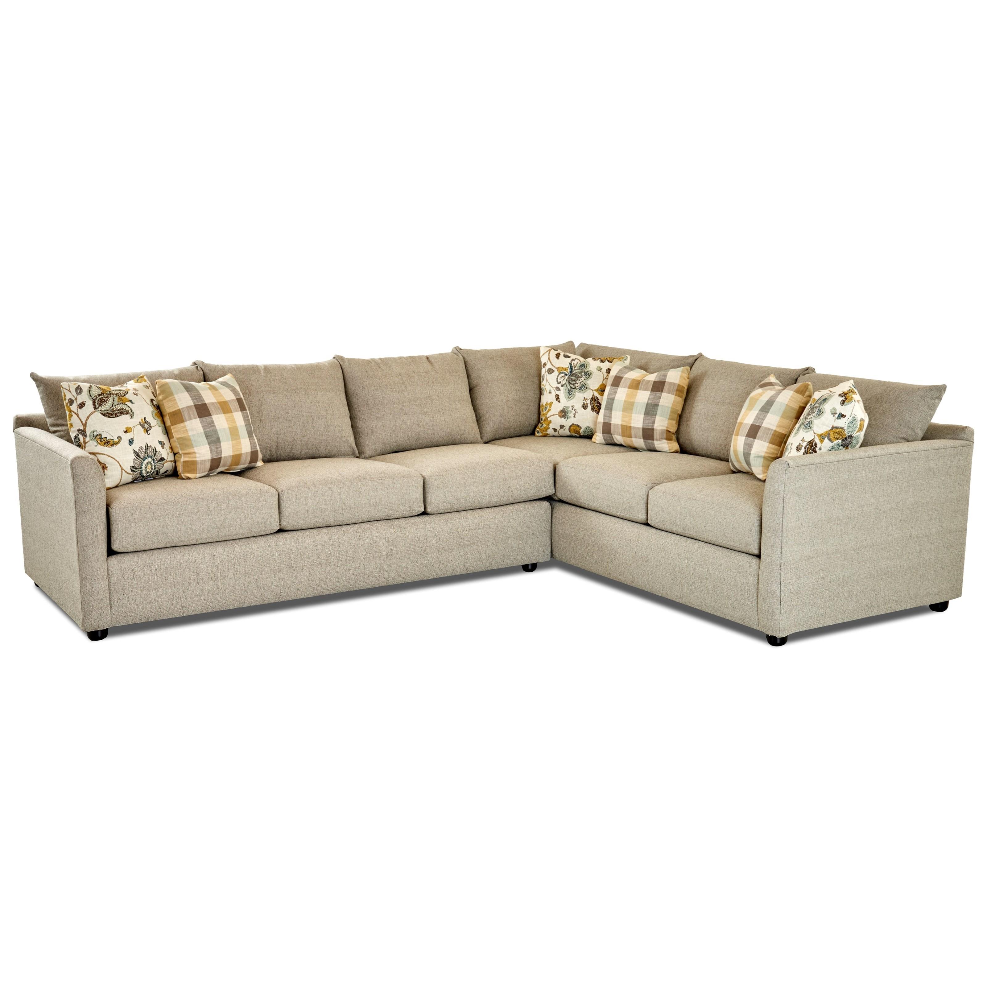 Atlanta Sectional Sofa by Klaussner at H.L. Stephens