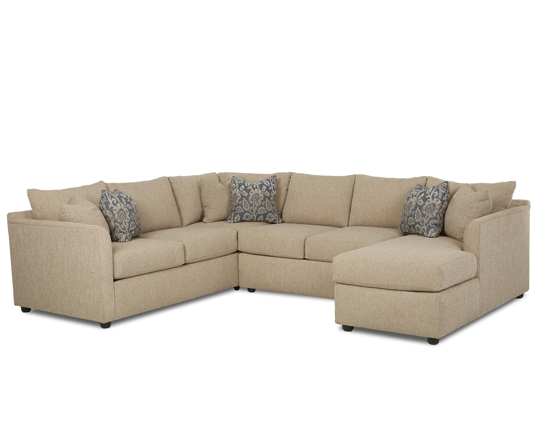 Atlanta Sectional Sofa by Klaussner at Johnny Janosik