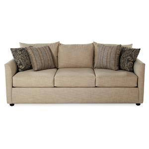 Transitional Style Sofa w/ Tuxedo Arms