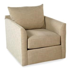 Swivel Accent Chair w/ Flared Arms