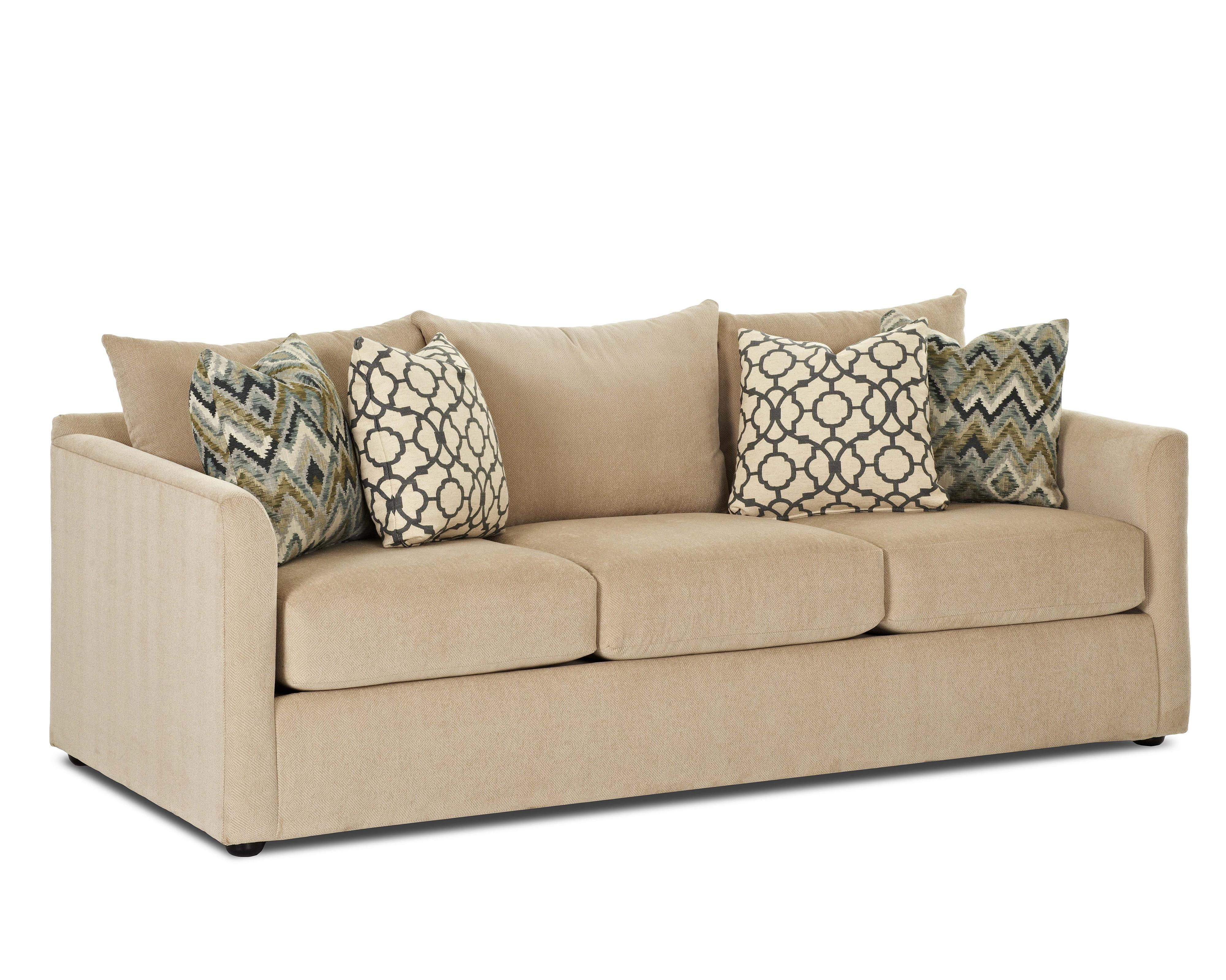 Atlanta Sleeper Sofa w/ AirCoil Mattress by Klaussner at Van Hill Furniture