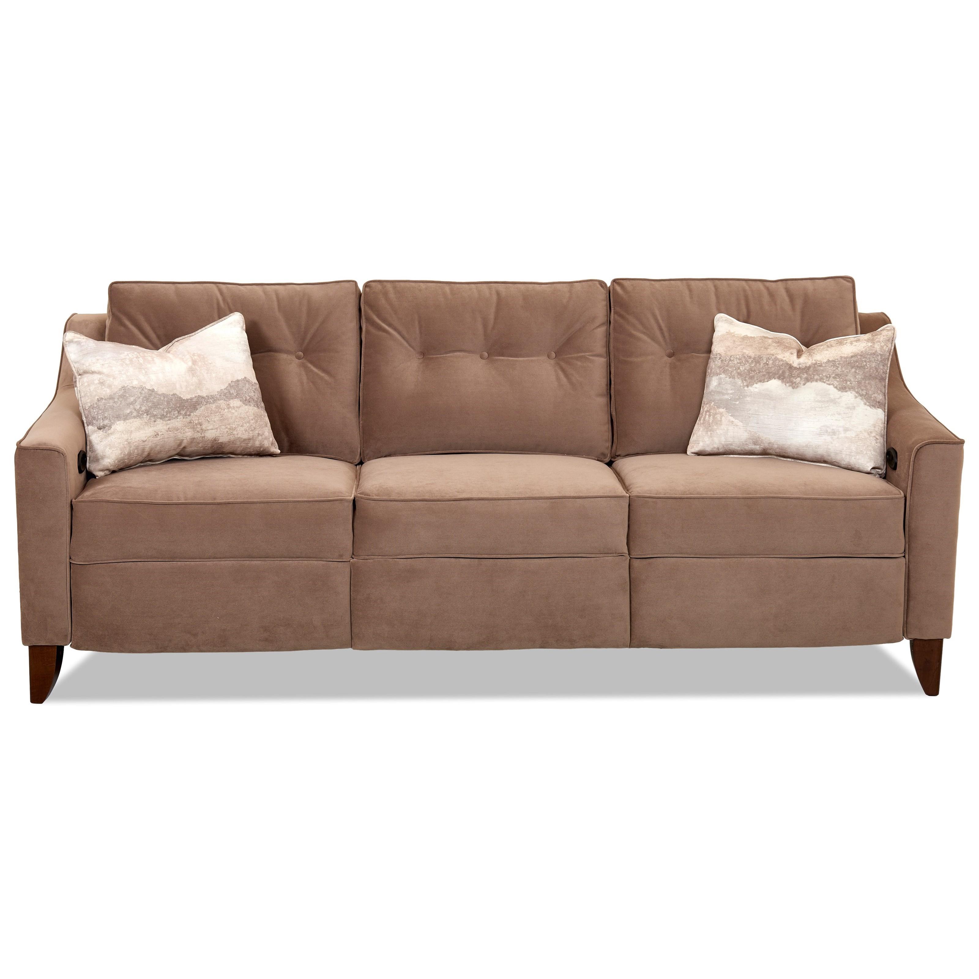Audrina Power Reclining Sofa by Klaussner at Lapeer Furniture & Mattress Center