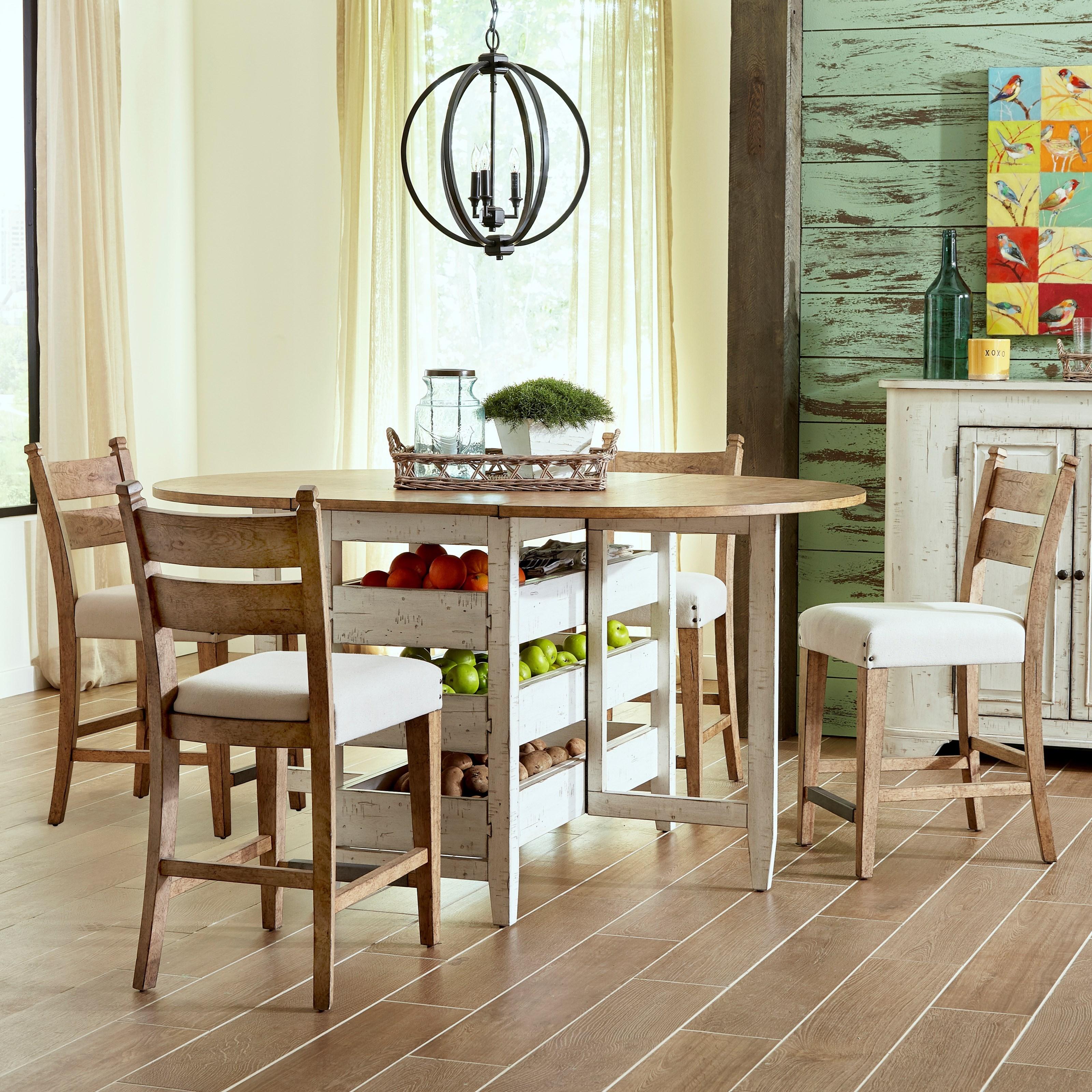 Coming Home 5 Pc Counter Gateleg Set by Trisha Yearwood Home at Belfort Furniture