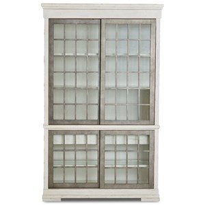 Affection Display Cabinet with Lighting and Sliding Glass Doors