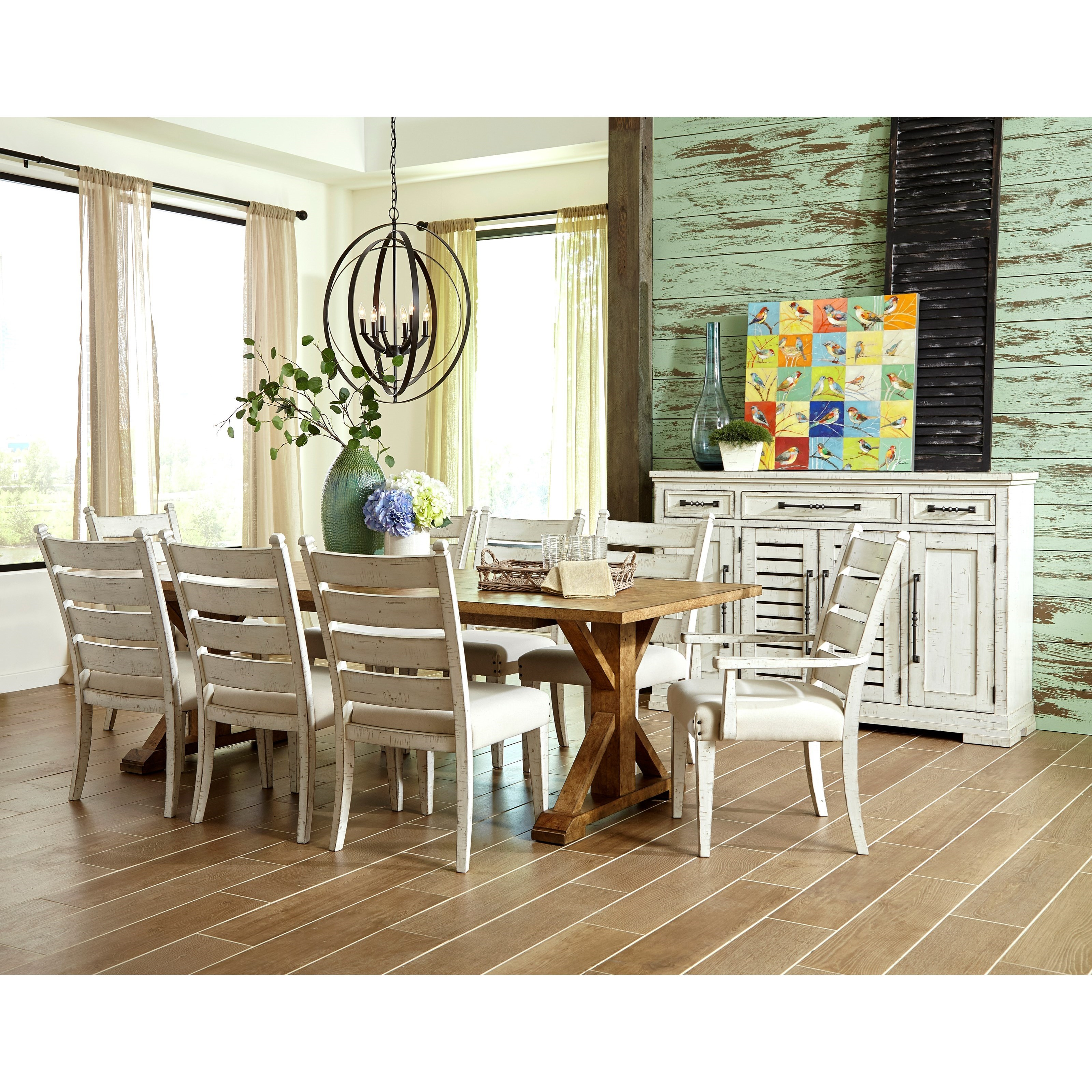 Coming Home Ten Piece Formal Dining Room Group by Trisha Yearwood Home Collection by Klaussner at Powell's Furniture and Mattress