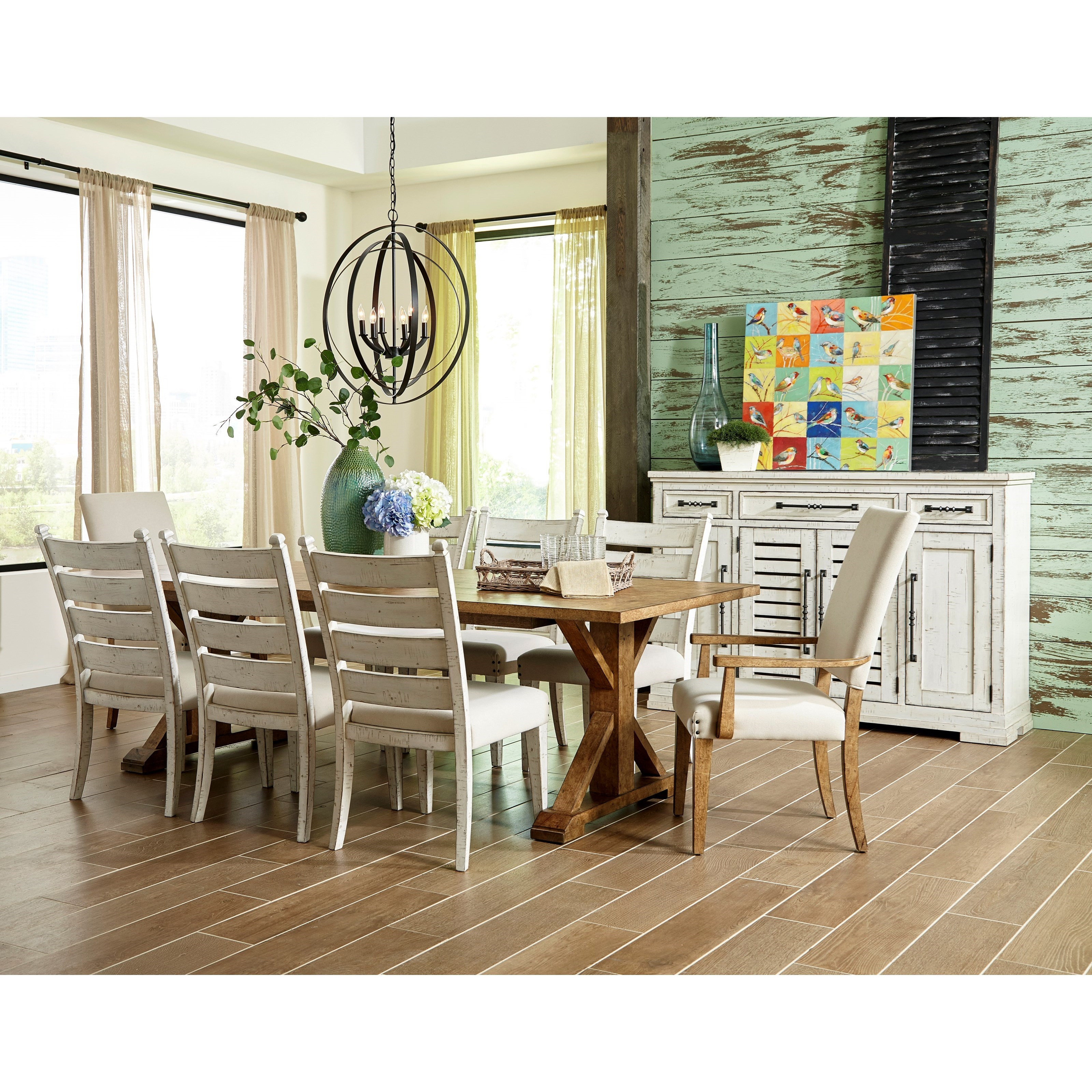 CRESSIDA / CASHEW Ten Piece Formal Dining Room Group by Trisha Yearwood Home Collection by Klaussner at EFO Furniture Outlet
