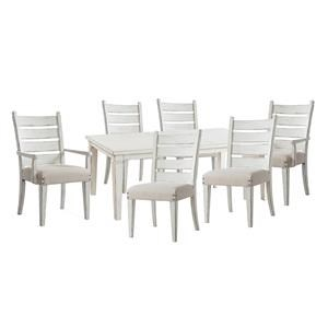 Rectangluar Table, Side Chairs, Arm Chair