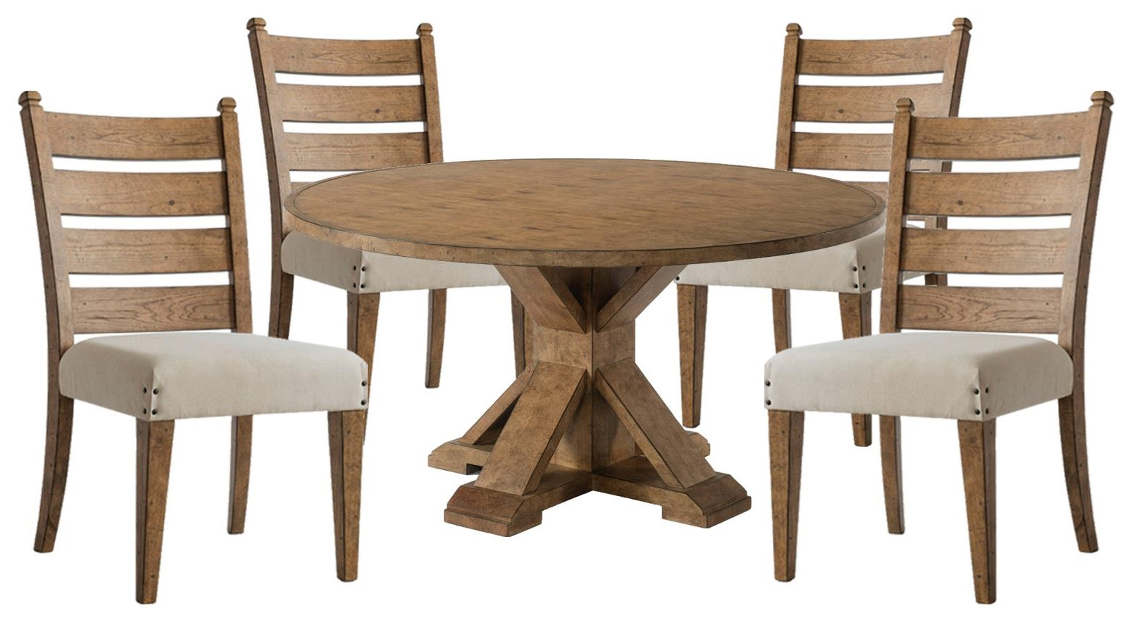 Coming Home Round Table and Side Chairs by Trisha Yearwood Home Collection by Klaussner at Johnny Janosik