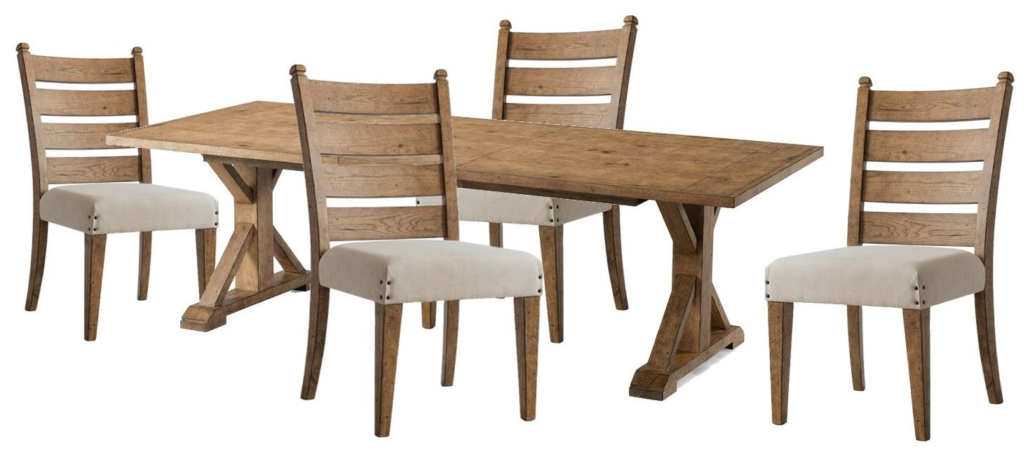 Coming Home Rectangle Table and Side Chairs by Trisha Yearwood Home Collection by Klaussner at Johnny Janosik