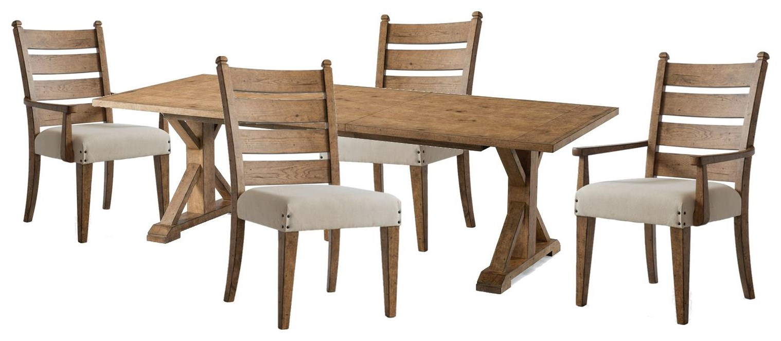 Coming Home Rectangluar Table, Side Chairs, Arm Chair by Trisha Yearwood Home Collection by Klaussner at Johnny Janosik