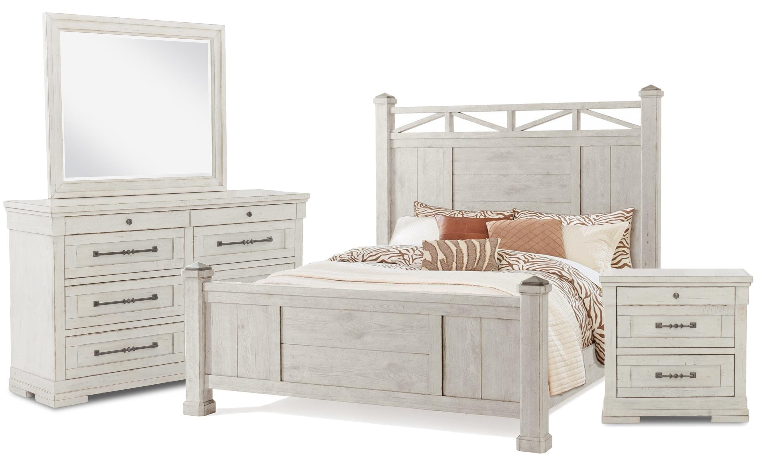 Coming Home King Bed, Dresser, Mirror, Nightstand by Trisha Yearwood Home Collection by Klaussner at Johnny Janosik