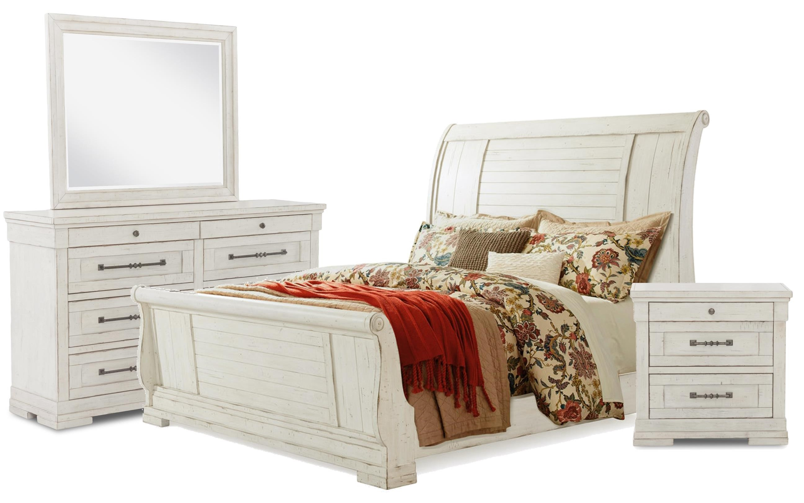 Coming Home Queen Bed, Dresser, Mirror, Nightstand by Trisha Yearwood Home Collection by Klaussner at Johnny Janosik