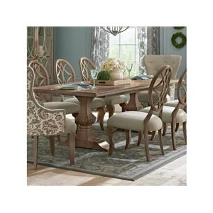 10 Piece Rectangular Dining Room Extension Table, 6 Upholstered Side Chairs, 2 Upholstered Host Chairs and Server Set