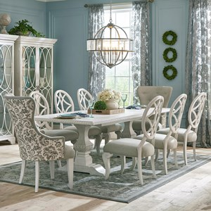 Nine Piece Dining Set with Tillman Table and Host Chairs