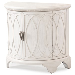 Julianne Demi Lune Accent Chest with Three Shelves