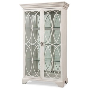 Melinda China Cabinet with Ornate Tracery and Display Lighting