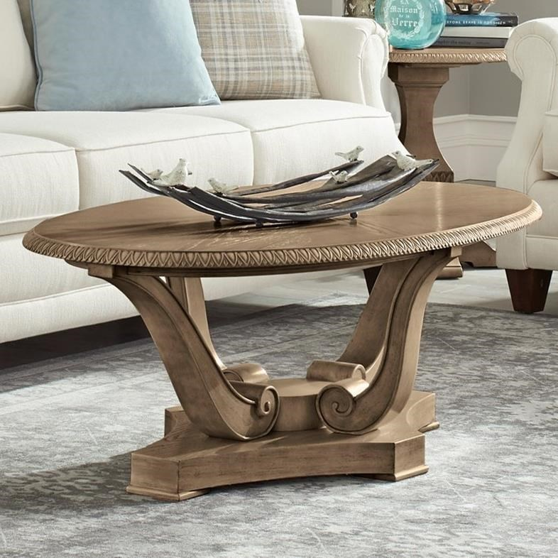 Jasper County Newton Cocktail Table by Trisha Yearwood Home Collection by Klaussner at EFO Furniture Outlet