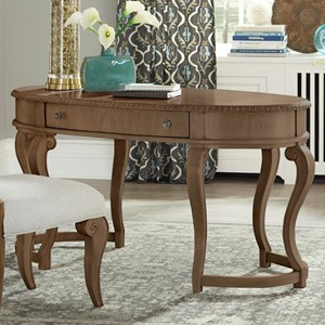 Charlotte Oval Desk with One Drawer