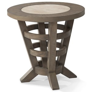 """Hello, I'm Gone"" Round End Table"