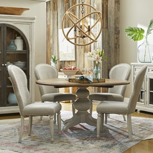 5-Piece Dining Set with In The Round Table