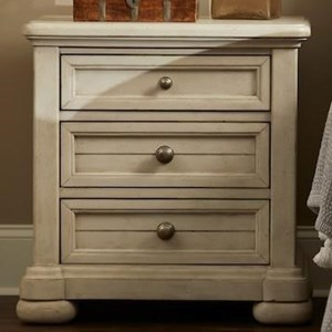 """615"" 3-Drawer Nightstand with USB Ports"