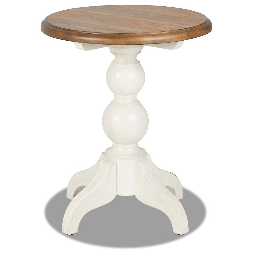 Nashville Bluebird End Table by Trisha Yearwood Home Collection by Klaussner at Johnny Janosik