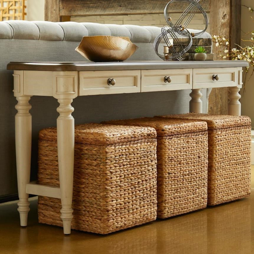 Nashville Belmont Sofa Table by Trisha Yearwood Home Collection by Klaussner at Darvin Furniture