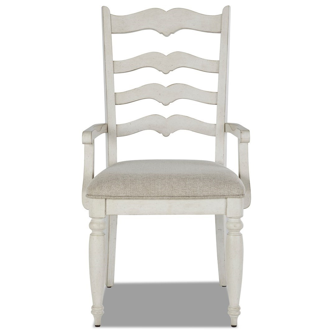 Nashville Concord Ladderback Arm Chair by Trisha Yearwood Home Collection by Klaussner at Darvin Furniture