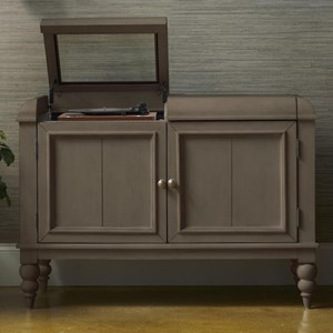 Platinum Cabinet with Record Player and Music Storage