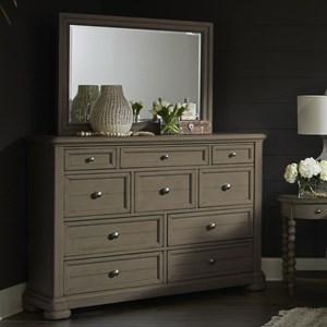 Titan 10-Drawer Dresser and Mirror Set