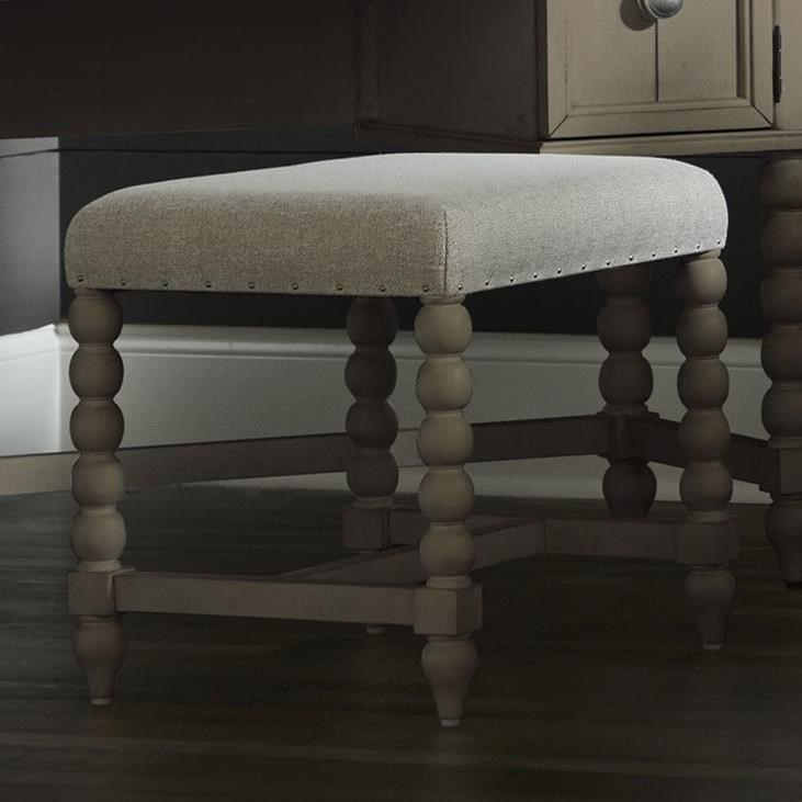 Nashville Broadway Vanity Stool by Trisha Yearwood Home Collection by Klaussner at EFO Furniture Outlet