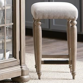 Nashville Douglas Corner Counter Height Stool by Trisha Yearwood Home Collection by Klaussner at EFO Furniture Outlet