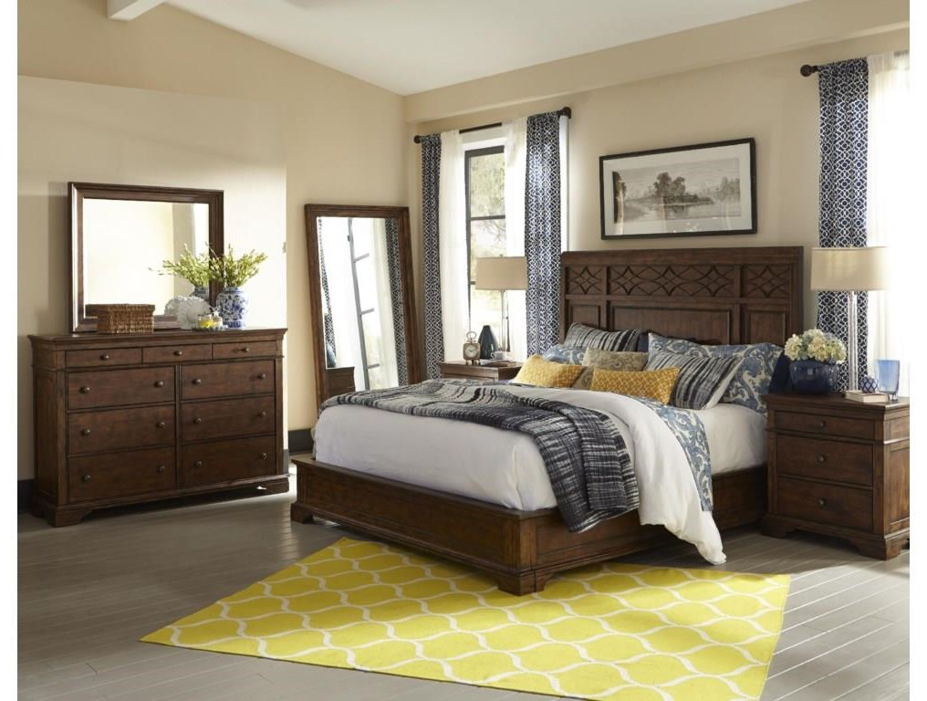 Trisha Yearwood Home Queen Panel Bed Package by Trisha Yearwood Home Collection by Klaussner at Sam Levitz Outlet