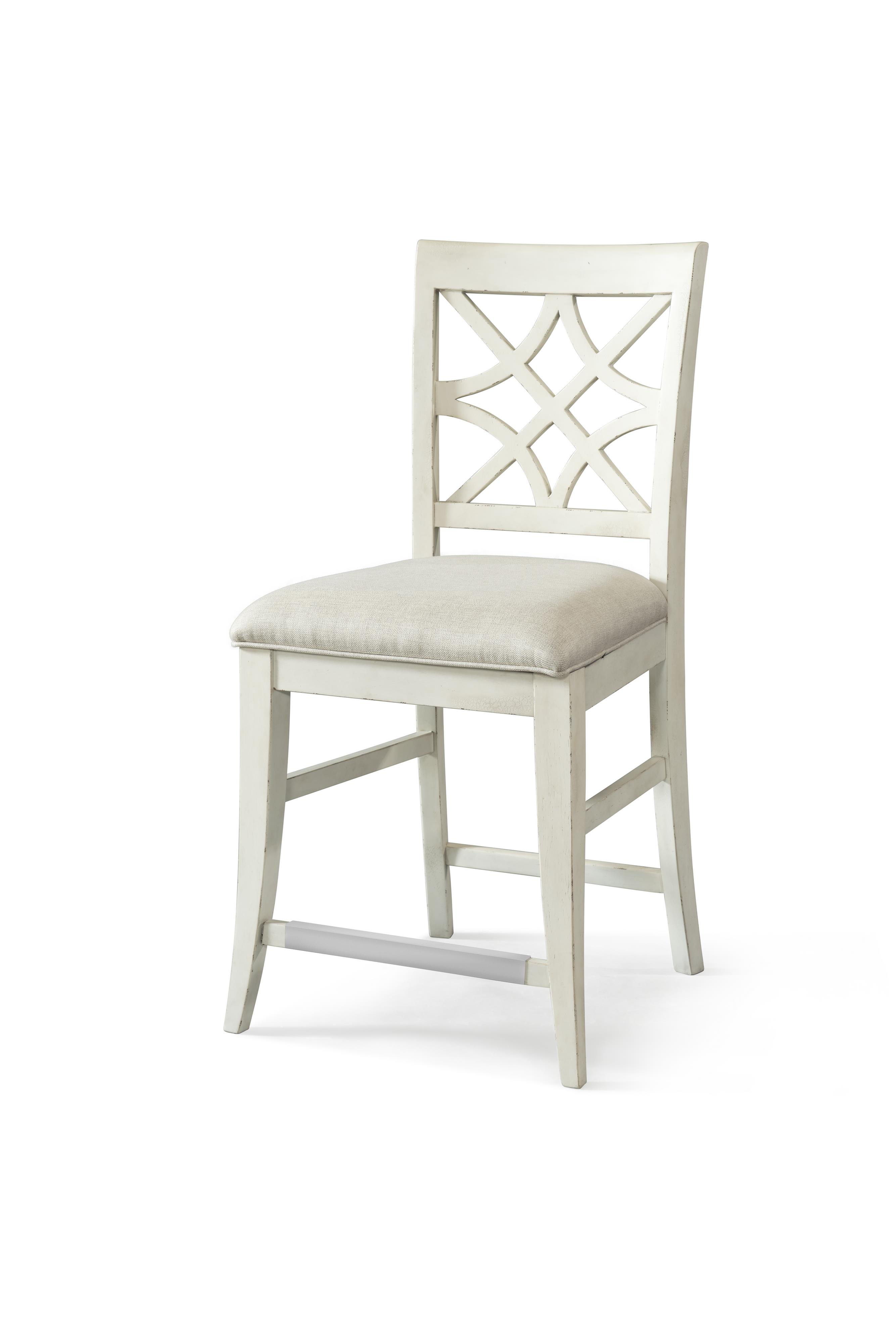 Trisha Yearwood Home Nashville Counter Height Chair with Lattice  by Trisha Yearwood Home at Belfort Furniture