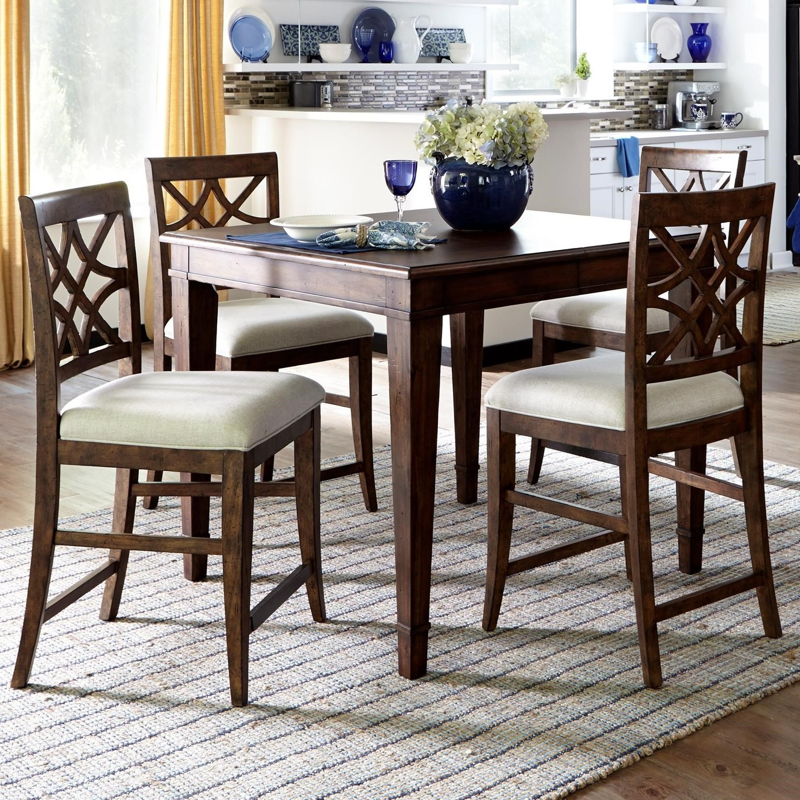 Trisha Yearwood Home 5 Piece Counter Height Table and Chairs Set by Trisha Yearwood Home Collection by Klaussner at Sam Levitz Outlet