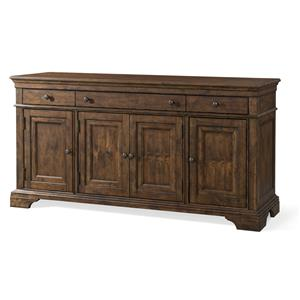 Prizefighter Entertainment Console with Built-in Outlet