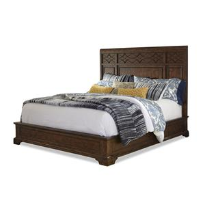 Complete Queen Panel Bed with Decorative Headboard