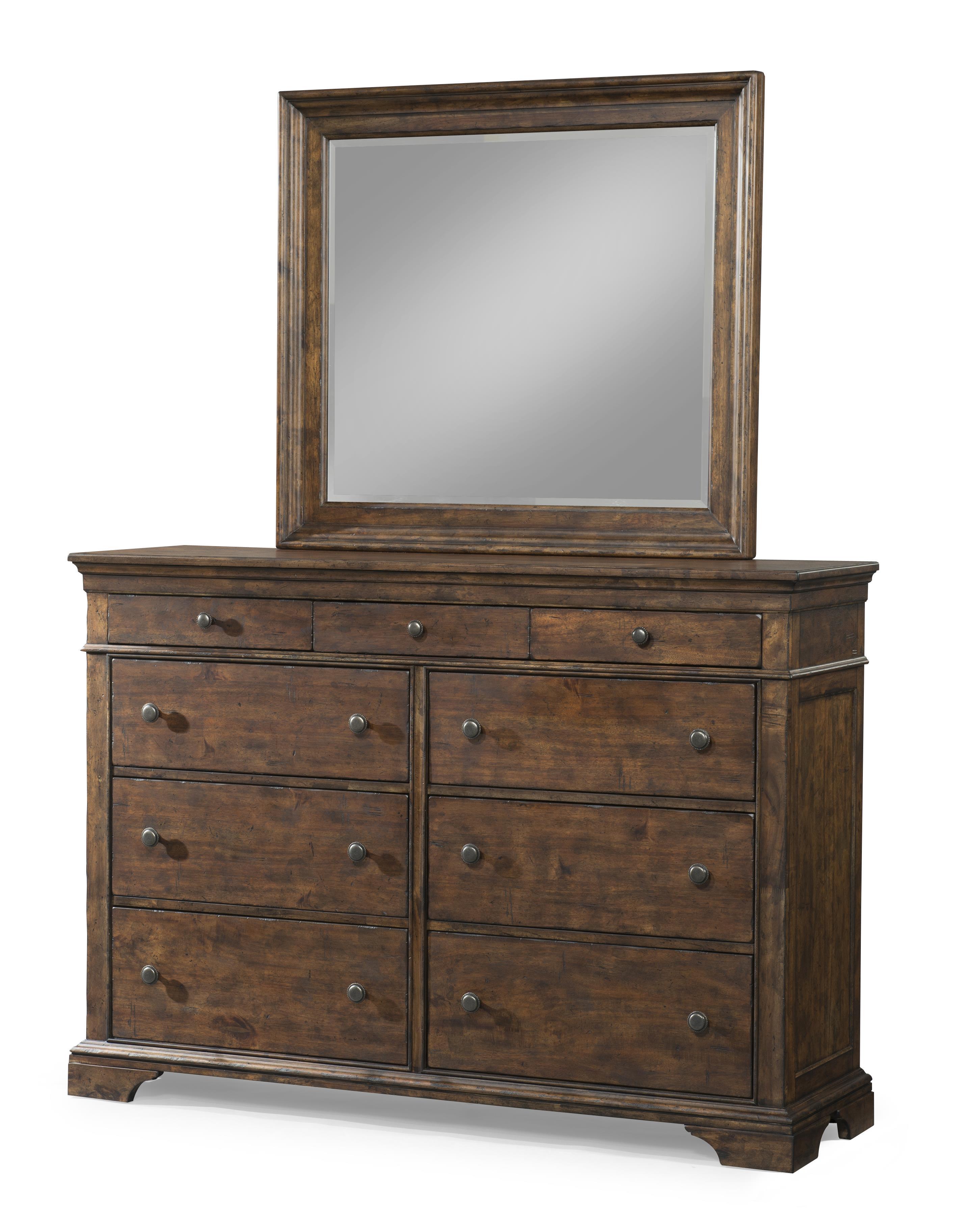 Trisha Yearwood Home Dresser and Mirror Set by Trisha Yearwood Home Collection by Klaussner at Darvin Furniture
