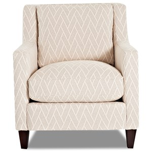 Contemporary Accent Chair with Angled Arms