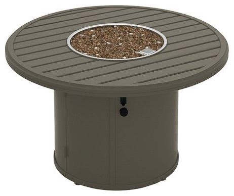 Banchetto 42 Inch Round Firepit by Tropitone at Johnny Janosik