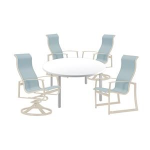 48 inch Table, 2 Dining and, 2 Swivel Chairs