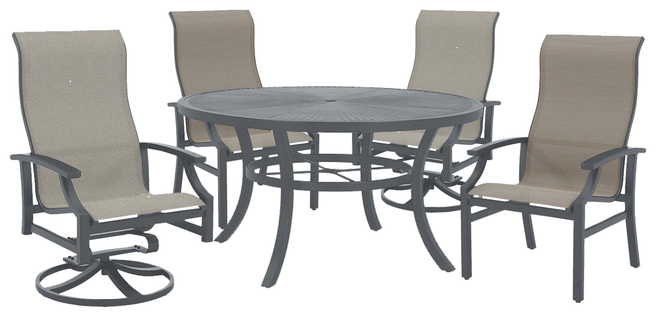 Marconi Outdoor Table, Swivel Chair, Dining Chair by Tropitone at Johnny Janosik