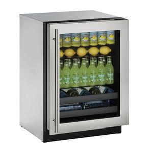 "U-Line Beverage Centers 4.9 cu ft. 3000 Series 24"" Beverage Center"